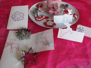 pattern selfmade Christmas greeting cards