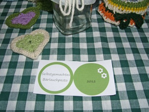 Bärlauch Pesto Etiketten, kostenlose Vorlage