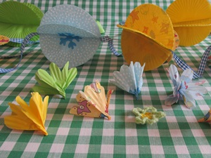 Tutorial flower decorations with photos