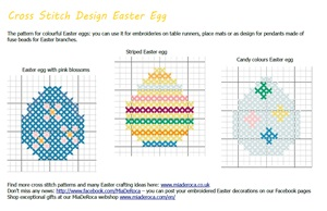 embroidery pattern Easter eggs