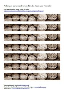 petersilien pesto etiketten f r kinder miaderoca alpines magazin. Black Bedroom Furniture Sets. Home Design Ideas