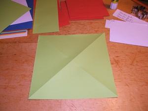 Briefauschlag aus Quadrat falten