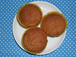 easy recipe chocolate muffins with almonds