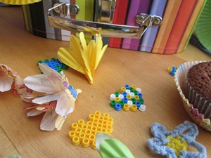 deco confetti flowers home made