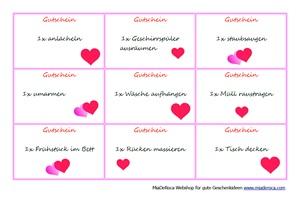 Gutscheine zum Muttertag - Für Kinder - MiaDeRoca alpines Magazin