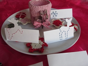 Christmas table decoration homemade