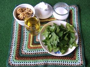 Rezept heimische Zutaten Pesto Petersilie