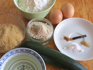 list of ingredients recipe courgette muffins
